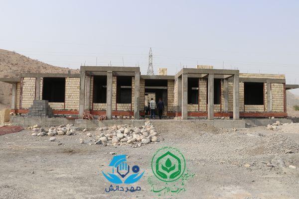پیشرفت 60 درصدی ساخت مدرسه استثنائی شش کلاسه حاجیه خانم فاطمه محبی روستای پاسفید شهرستان رودان استان هرمزگان