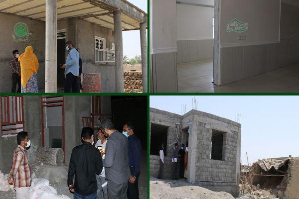 بازدید دوره ای رئیس هیئت مدیره خیریه اشرف الانبیاء(ص) از روند ساخت 122 واحد مسکن ایتام روستایی استان هرمزگان ( سایه رضوان )