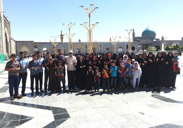 اعزام 500 نفر (12 کاروان)  از خانواده های ایتام به مشهد مقدس در سال 1395 - موسسه خیریه اشرف الانبیاء (ص)