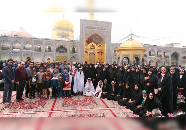 اعزام 1100 نفر (21 کاروان)  از خانواده های ایتام به مشهد مقدس در سال 1397 - موسسه خیریه اشرف الانبیاء (ص)